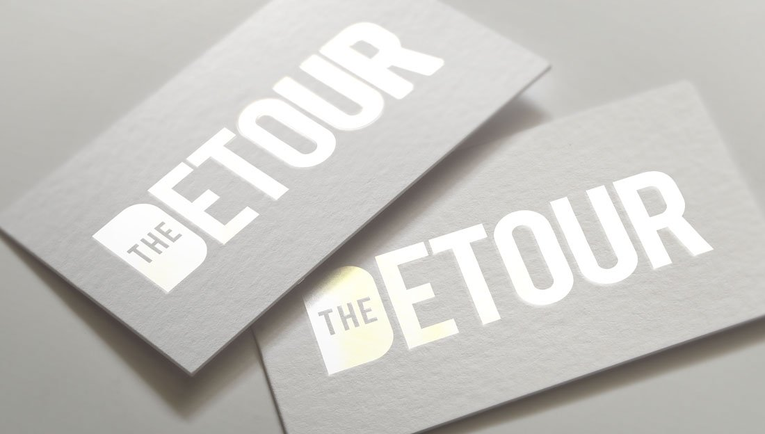 The Detour logo design