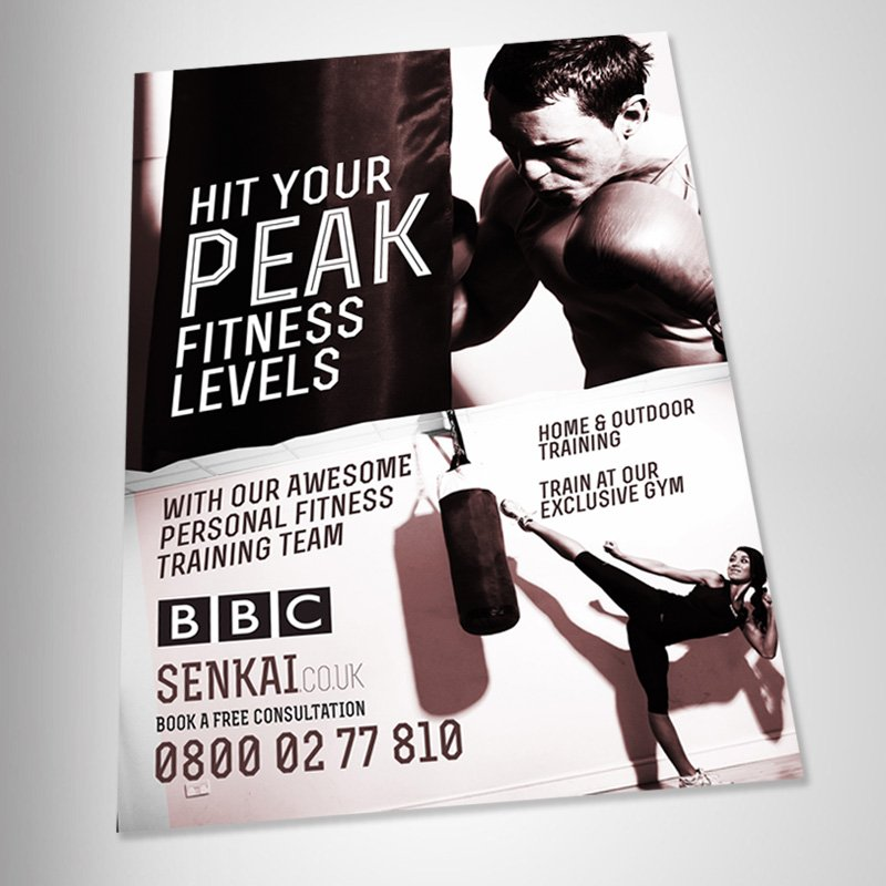 London Fitness Poster Design version 3 angled