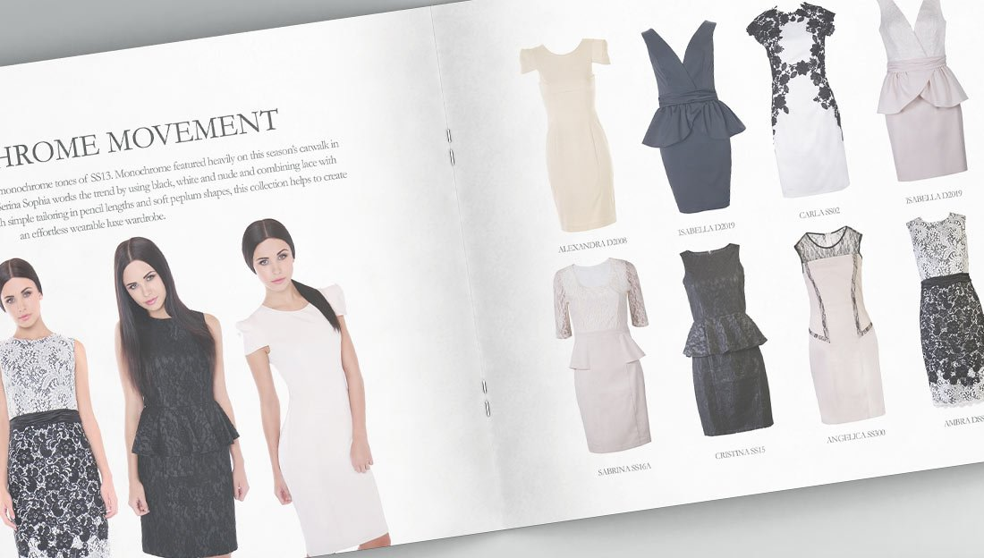 lookbook design for dress selling company