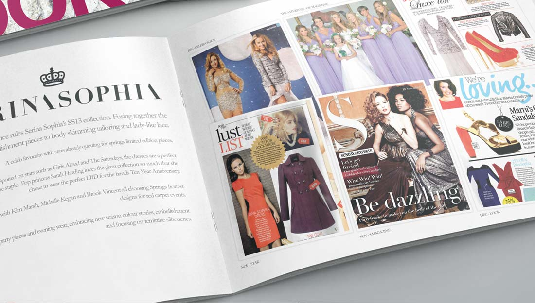 brochure design for dress selling company in uk