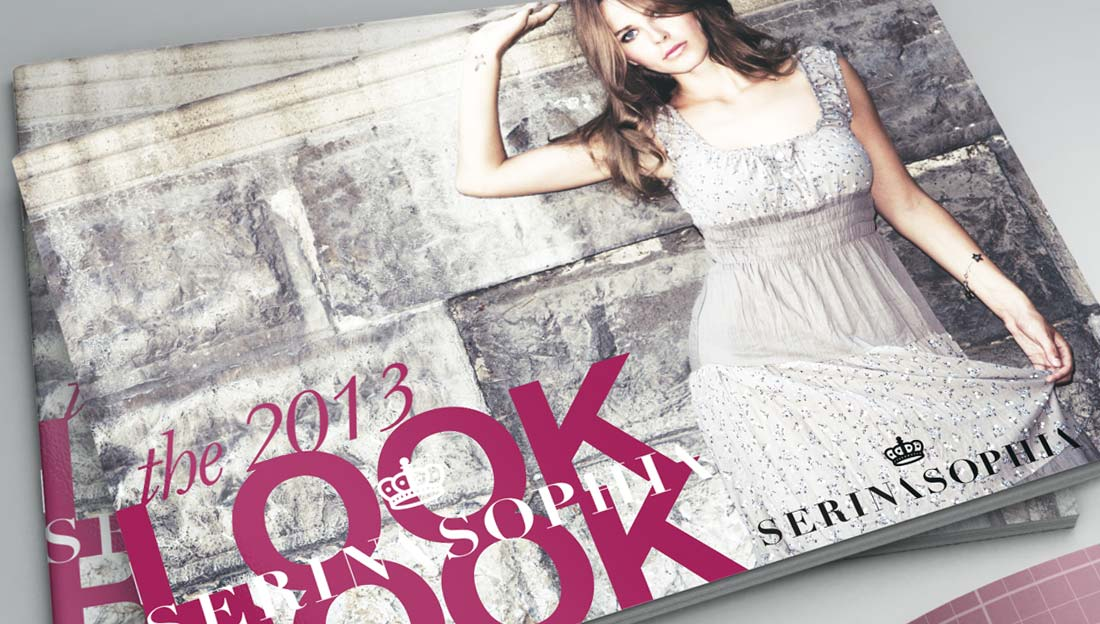 lookbook design for serene sophia