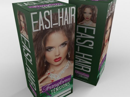 Easi-hair extension branding & packaging