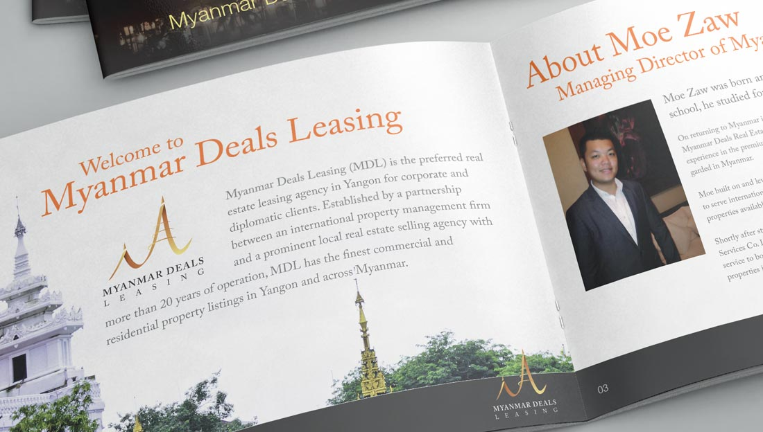 myanmar deals leasing booklet design inner pages