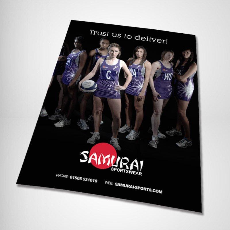 Samurai Sportswear Advert Design girls 1 angled