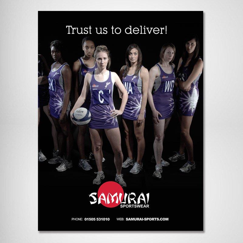 Samurai Sportswear Advert Design girls 1 straight