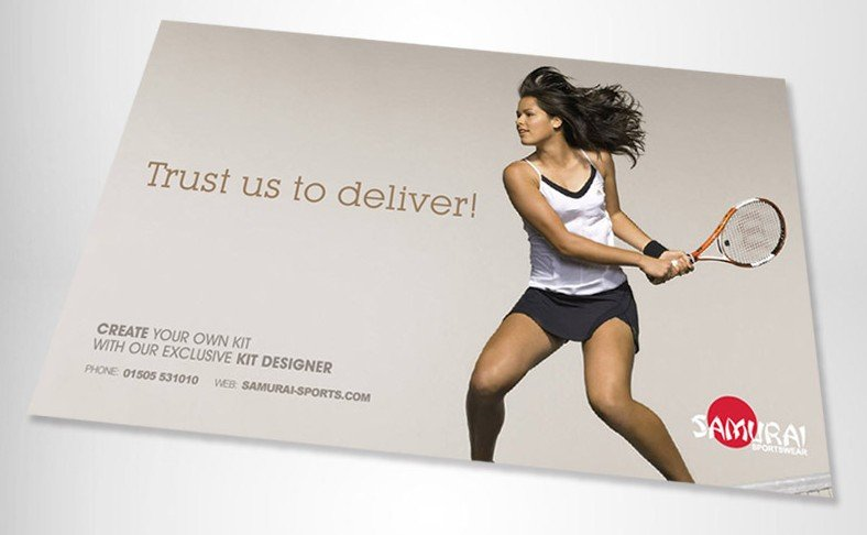 Samurai Sportswear Advert Design Tennis Angled
