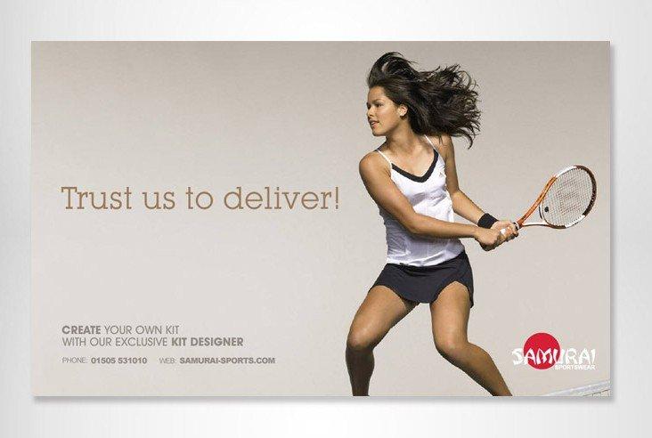 Samurai Sportswear Advert Design TENNIS STRAIGHT