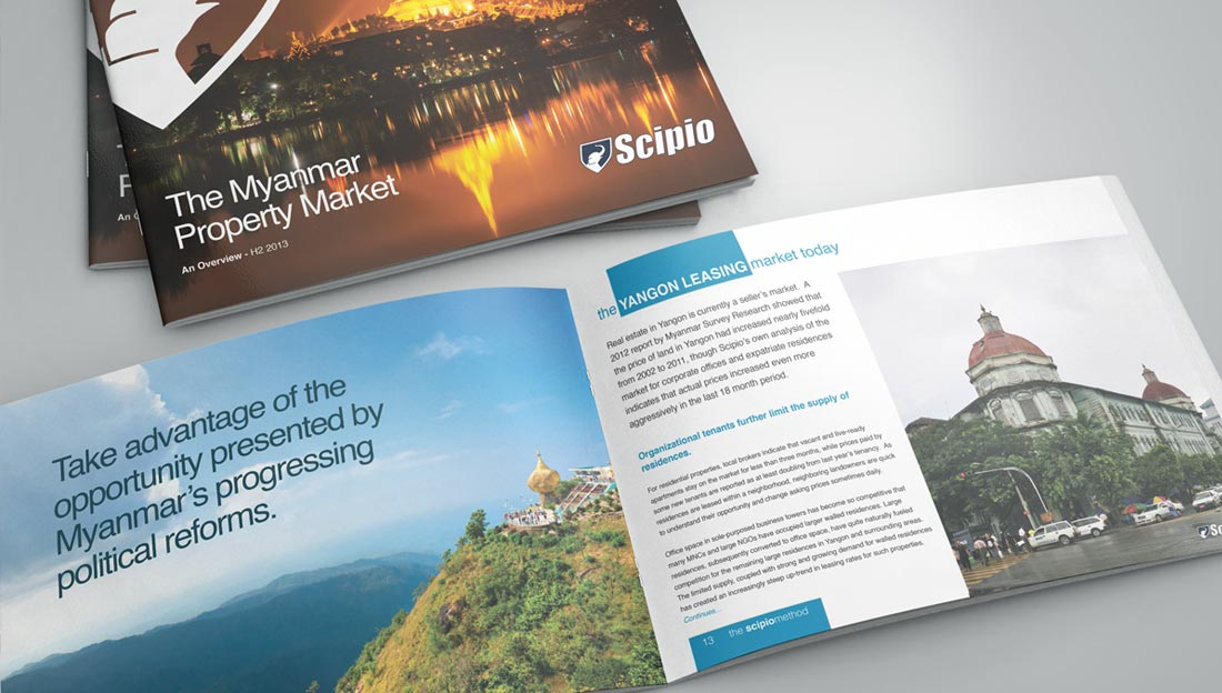 scipio brochure cover & pages