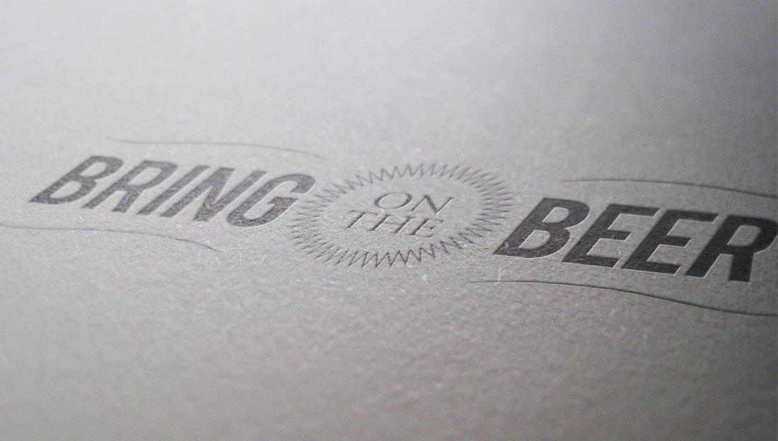 Bring on the Beer logo design
