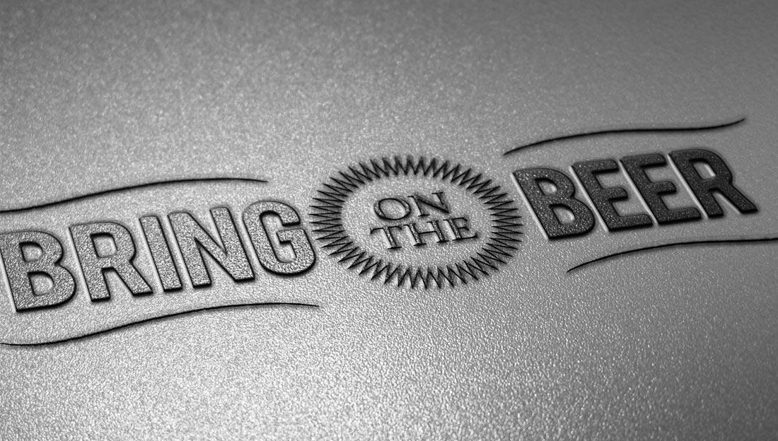 Bring on the Beer logo design raised