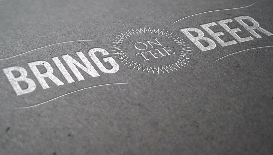 Bring on the Beer logo design lighter