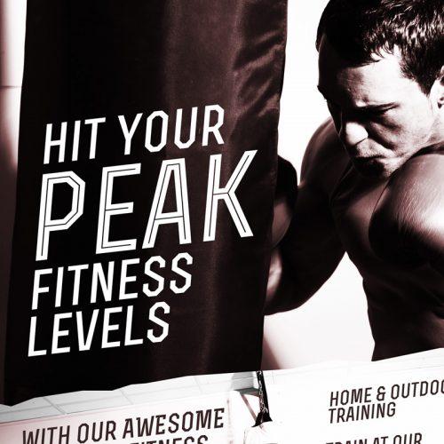 London Fitness Poster Design version 3 close up