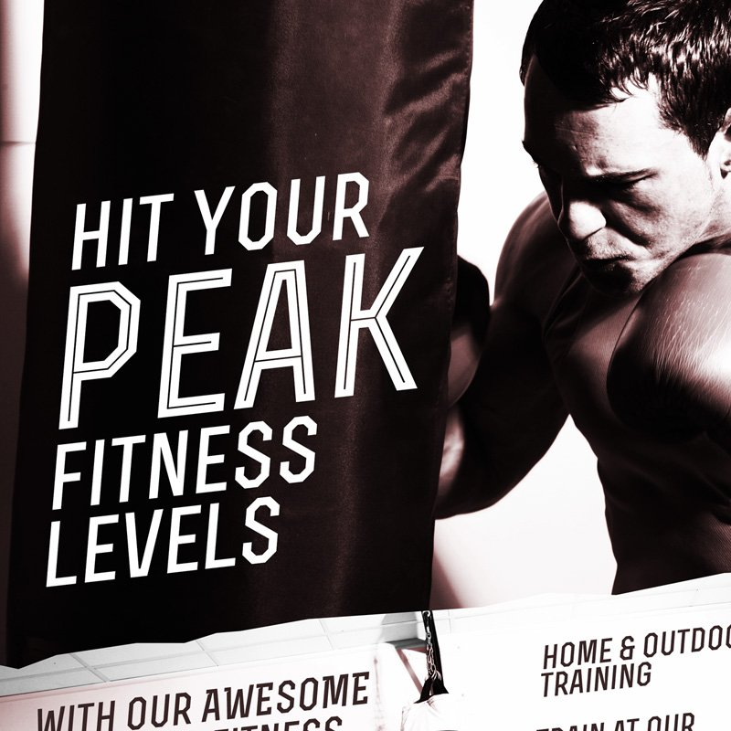 London Fitness Poster Design version 3 close up