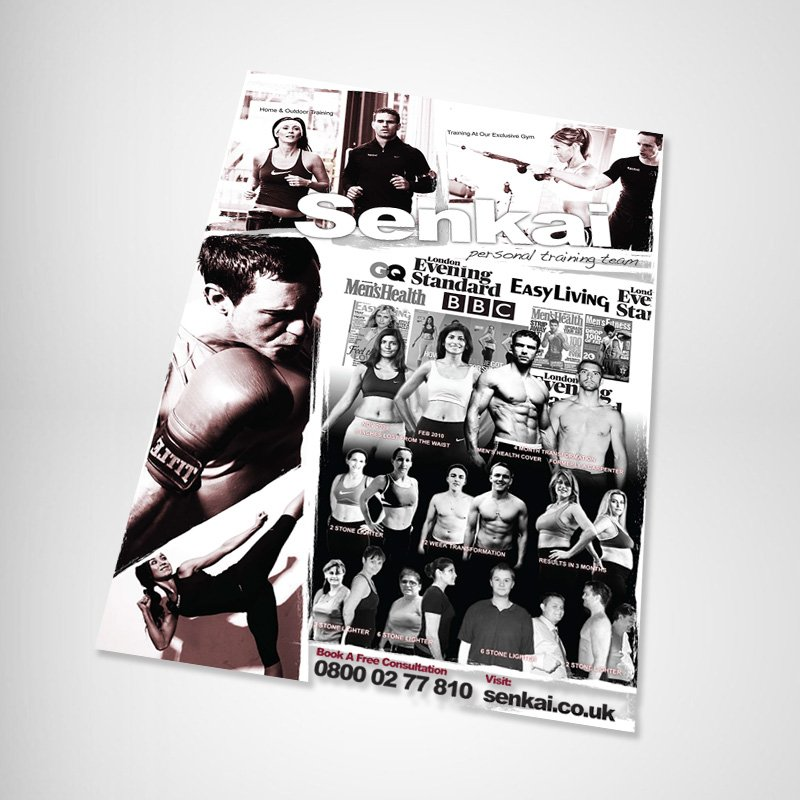 London Fitness Poster Design Original Angled