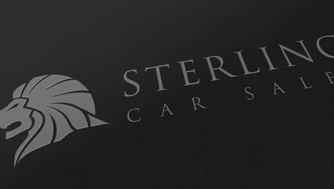 Sterling logo design slanted