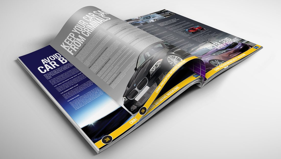 cpi brochure design car crime
