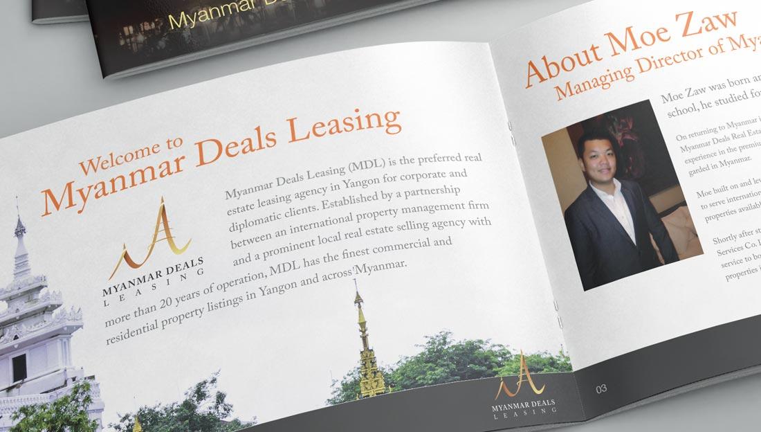 myanmar deals leasing booklet design inner pages