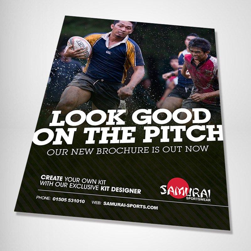 Samurai Sportswear Advert Design Asian Rugby angled
