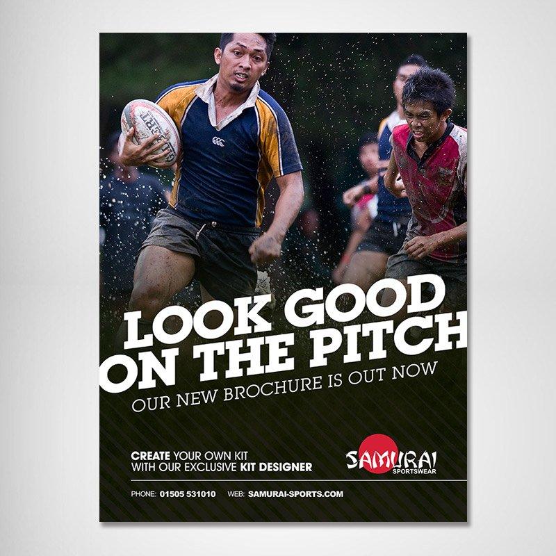 Samurai Sportswear Advert Design Asian Rugby Straight