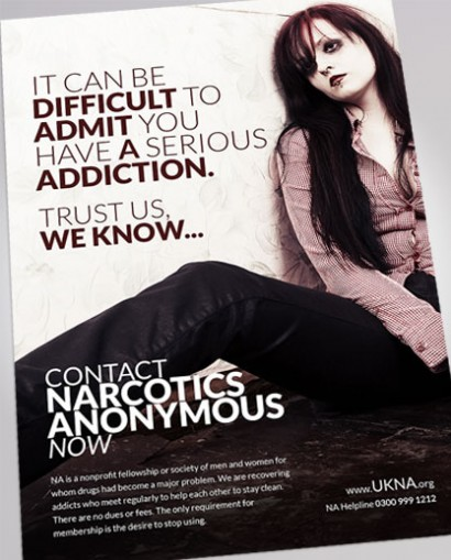 NARCOTICS ANONYMOUS AD DESIGN FEATURED