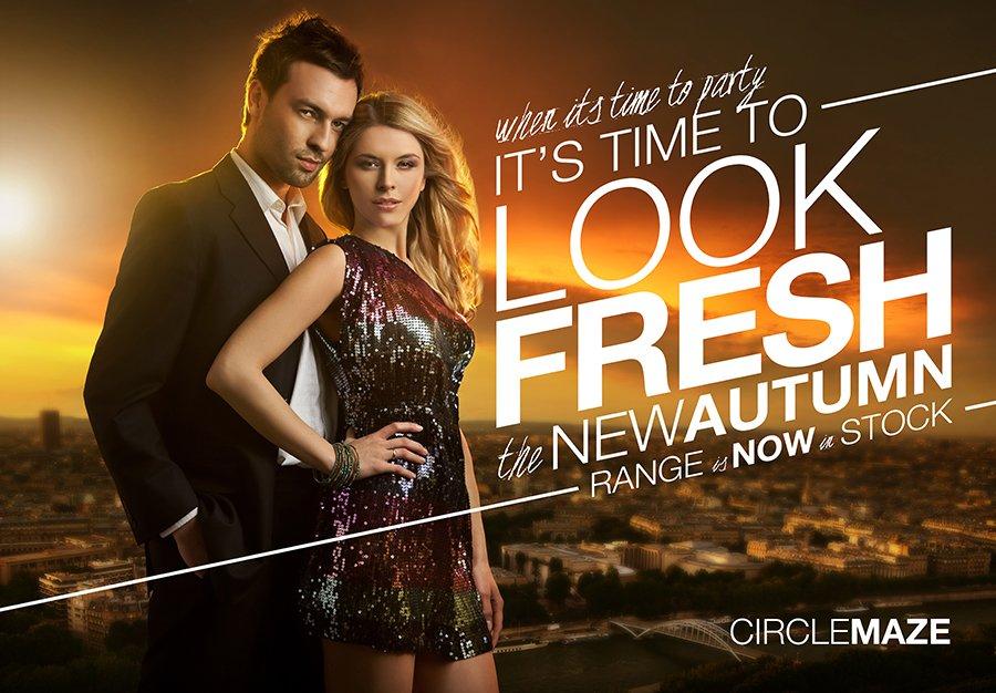 Circle Maze fashion poster design