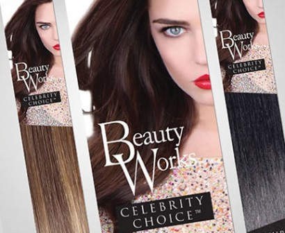 Beauty Works celebrity choice hair extensions packaging design FEATURED