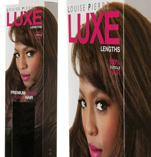 HAIR EXTENSION PACKAGING DESIGN FOR LOUISE PIERRE