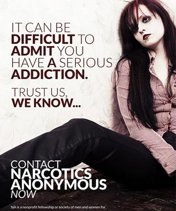 Narcotics Anonymous Print Campaign