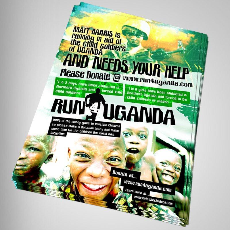 Run4Uganda Poster Design 3