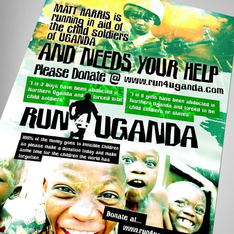 Run4Uganda Poster Design 2