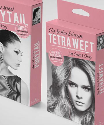 HAIR EXTENSIONS BOX PACKAGE DESIGN FOR CROWN & GLORY