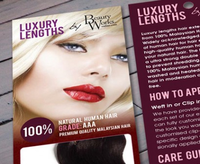 Luxury Lengths Hair Extensions Packet Design featured