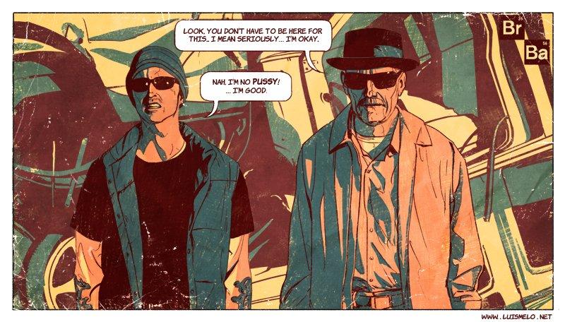 Breaking Bad Comic Style Art Luis Melo