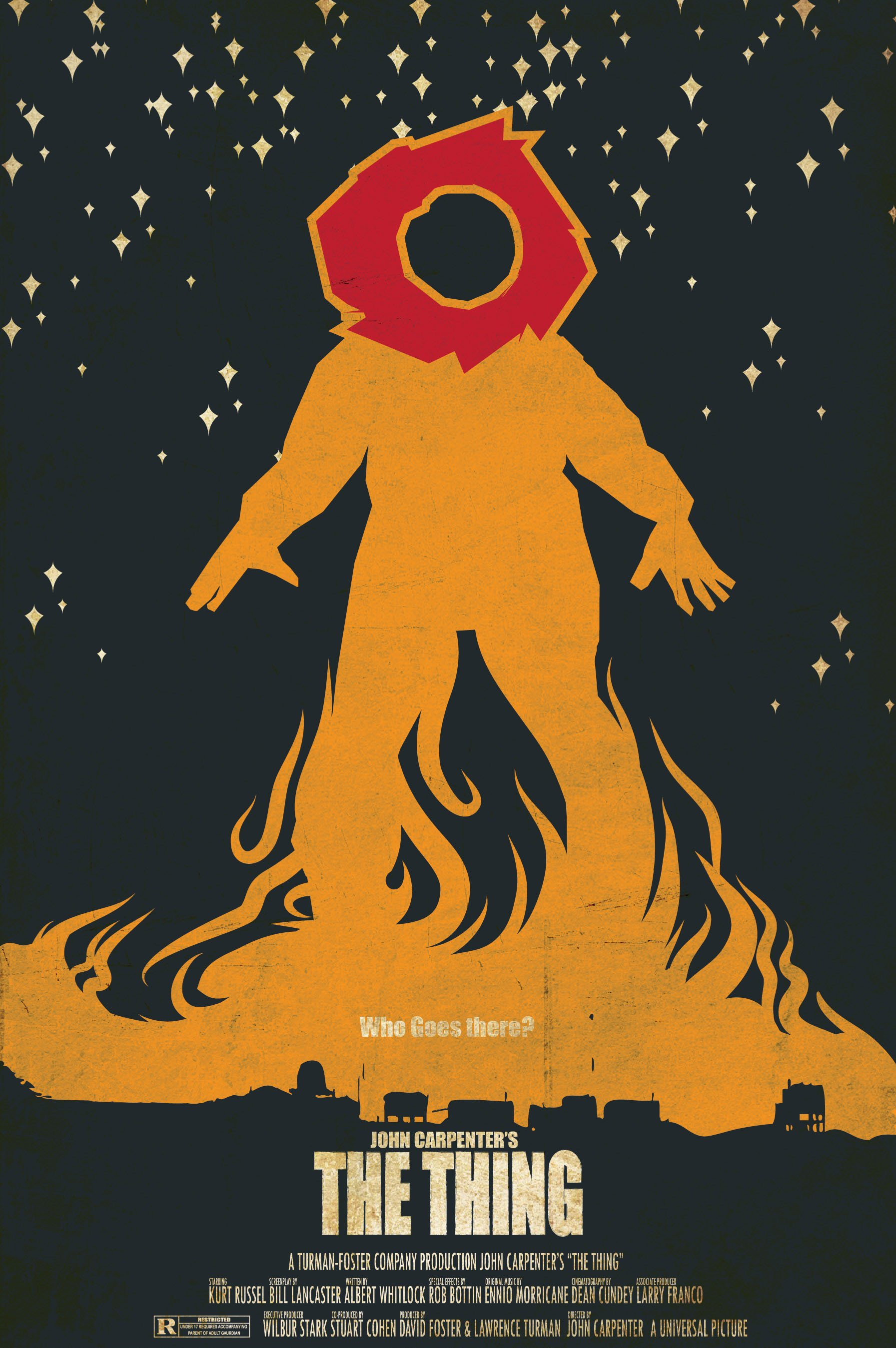 Poster design john foster -  The Thing Movie Poster 10
