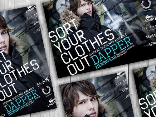 Menswear fashion print design combined