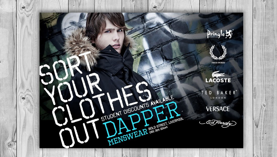 Menswear fashion print design straight