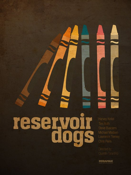 alternate movie poster designs for tarantino 39 s reservoir dogs. Black Bedroom Furniture Sets. Home Design Ideas