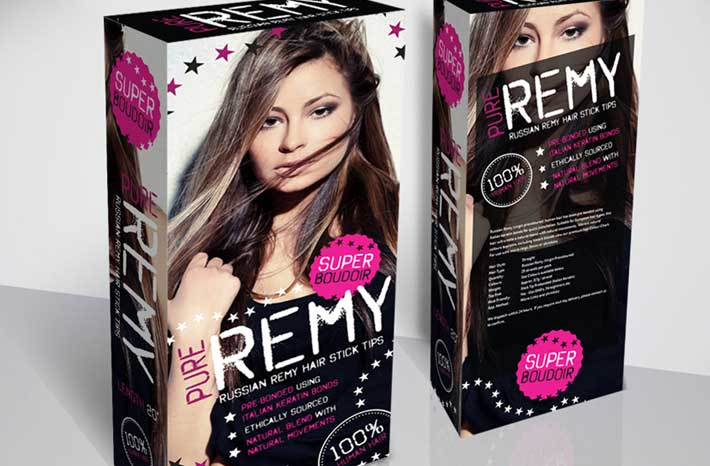 remy russian hair packaging