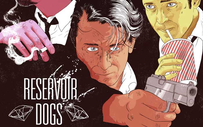 ALTERNATE POSTER DESIGN FOR TARANTINO'S RESERVOIR DOGS