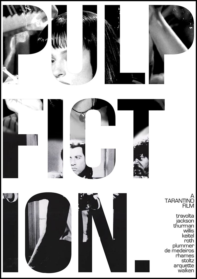 pulp fiction typographic poster