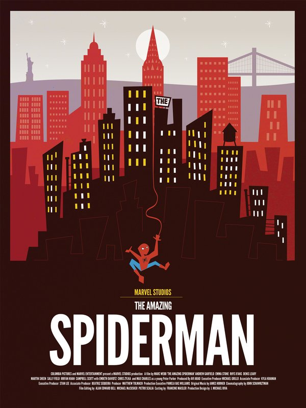Spiderman alternate poster art