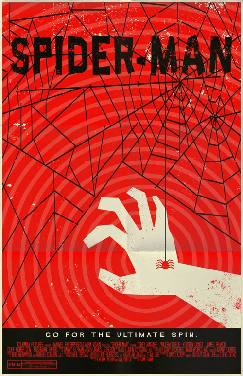 spiderman alternate movie poster