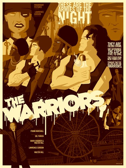 the warriors alternate poster design