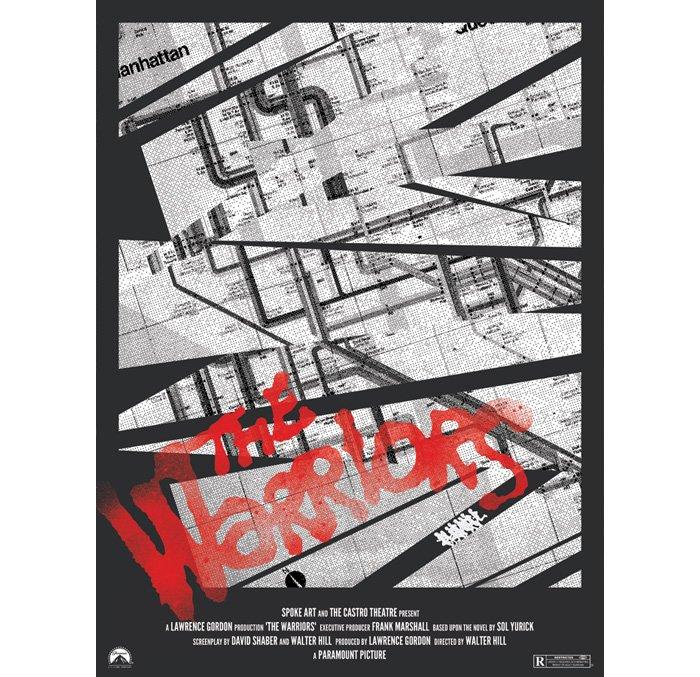 Warriors alternate poster design subway map