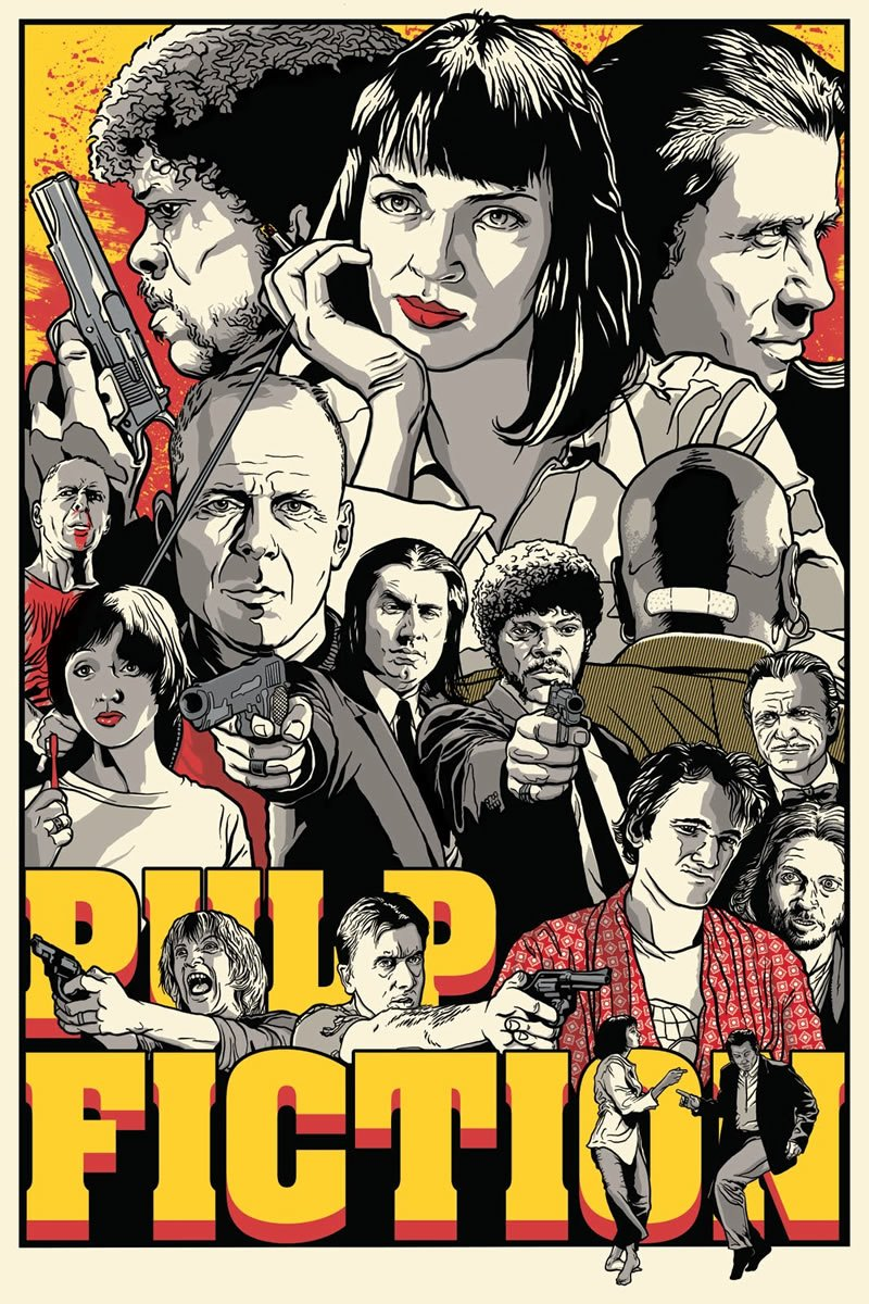 Pulp fiction alternate poster