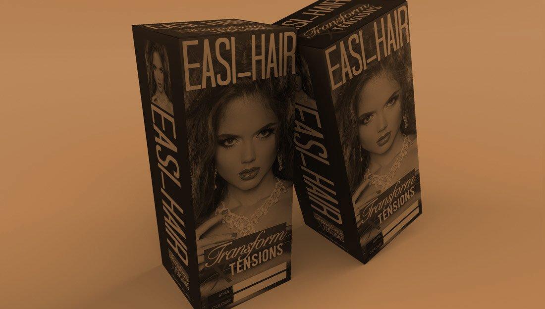Bottom Easi Hair Extensions Branding Packaging Box Design Transform