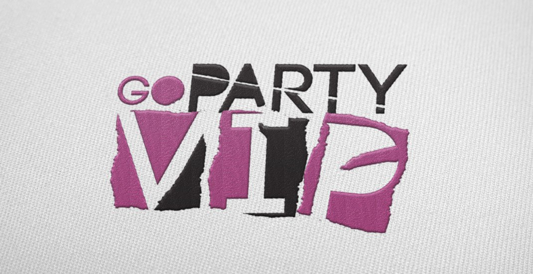 go-party-vip-logo-embroidered-t-shirt