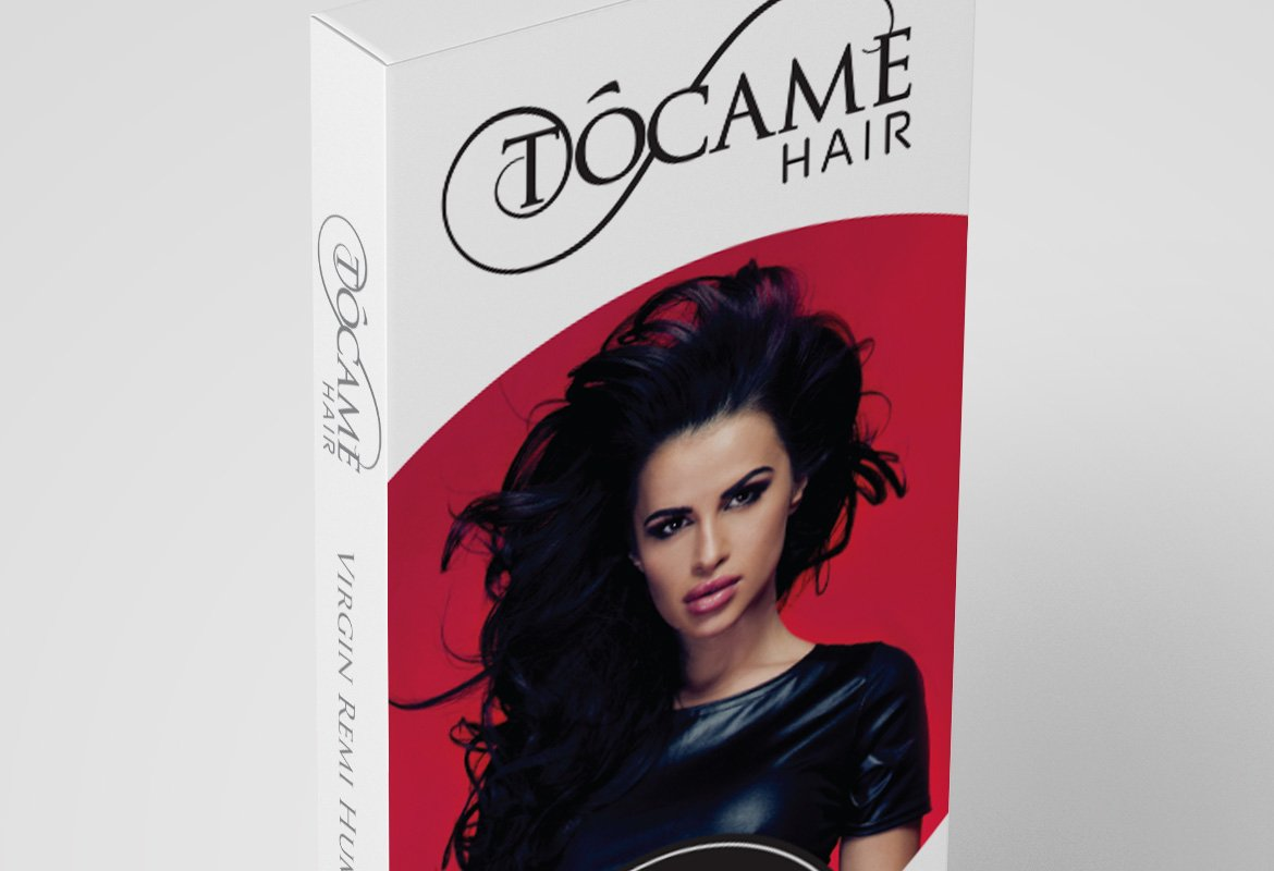 Packaging and Branding Design for Hair Extensions Company