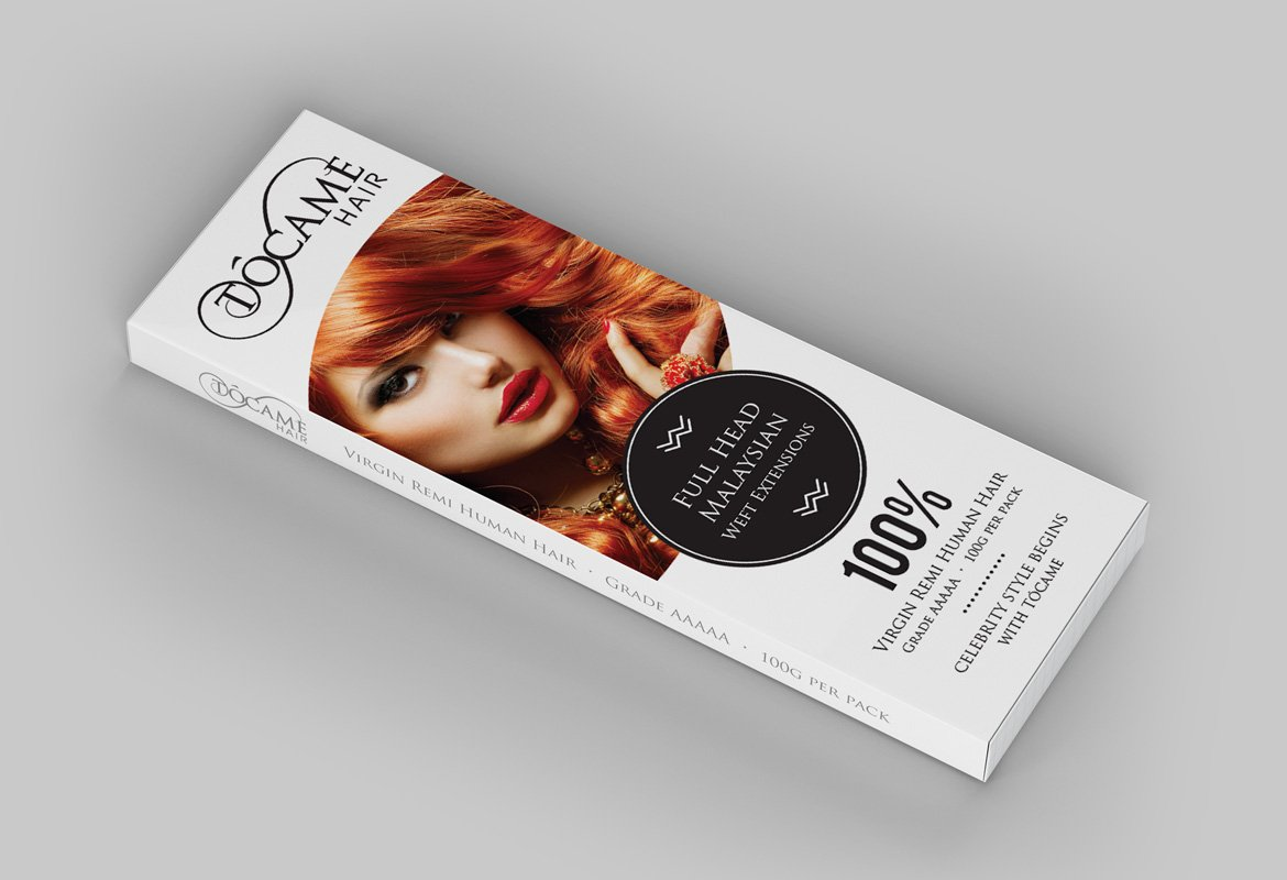 tocame-malaysian-hair-extensions-packaging-design-angled