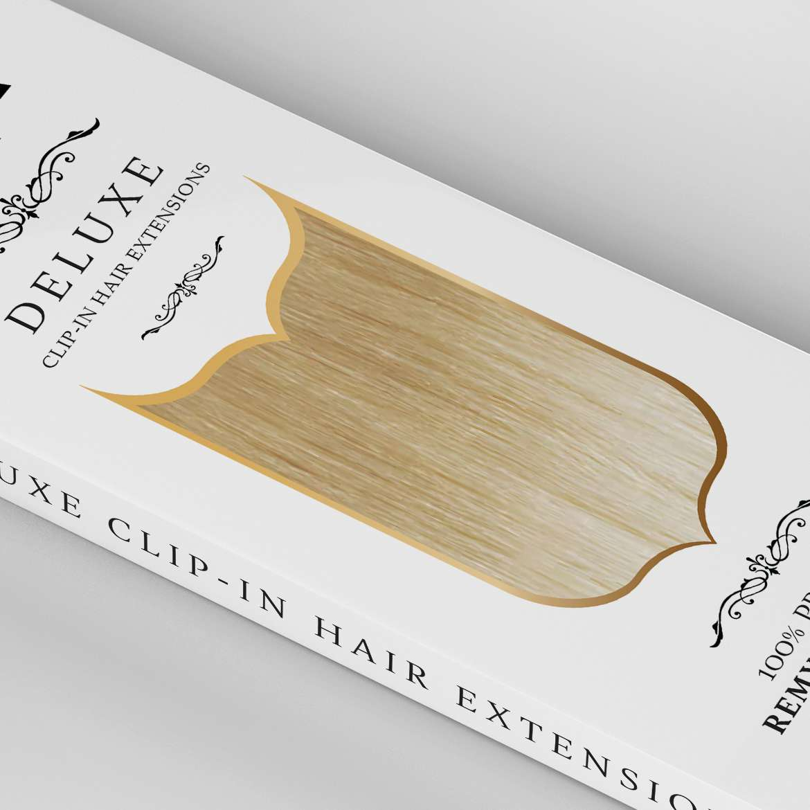 deluxe-clip-in-hair-extensions-packaging-design-remy-angled-close-up-image